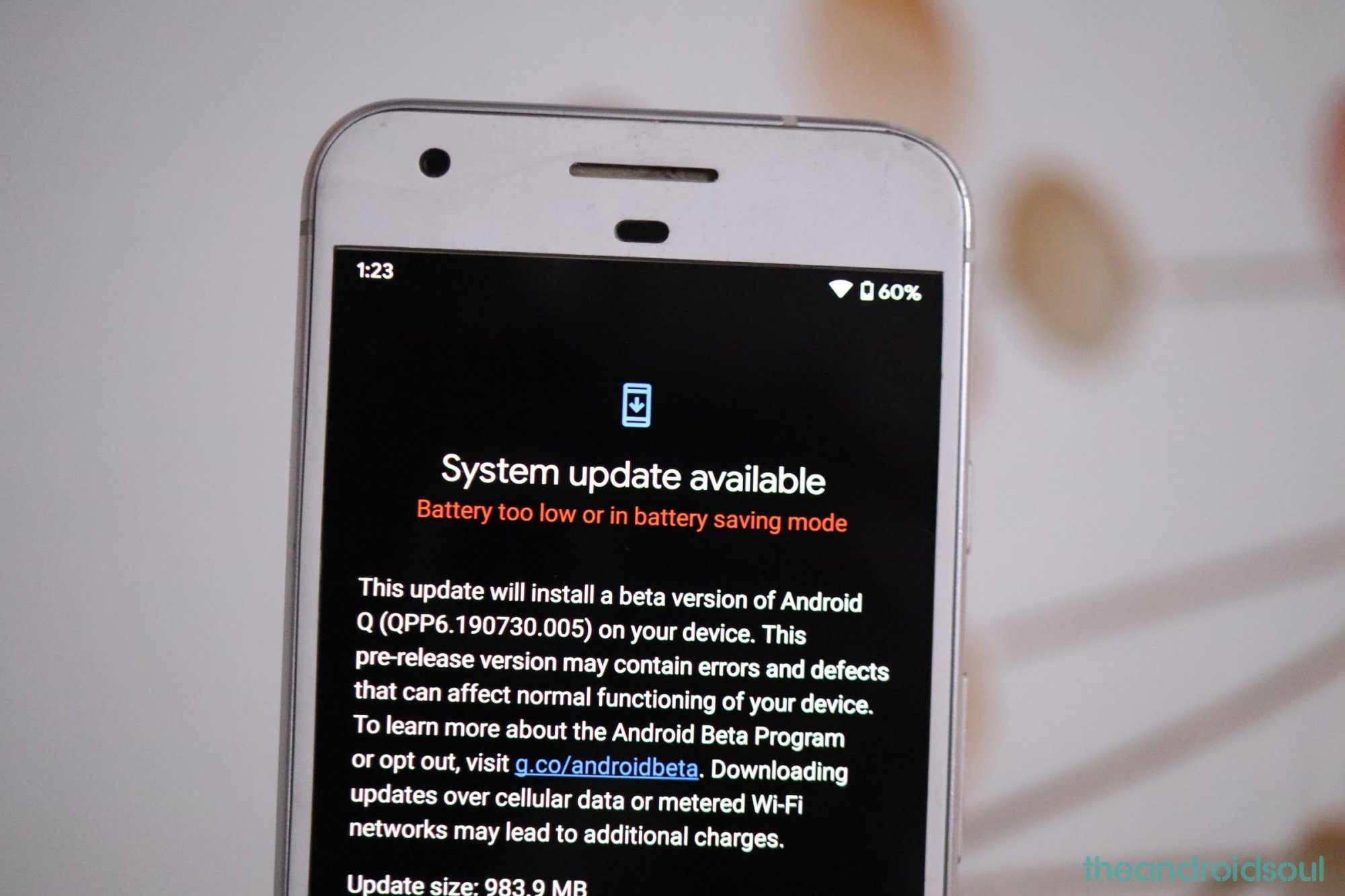 Android 10 update