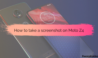 How to take a screenshot on Moto Z4