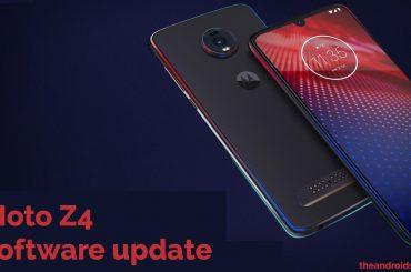 Motorola Moto Z4 software update