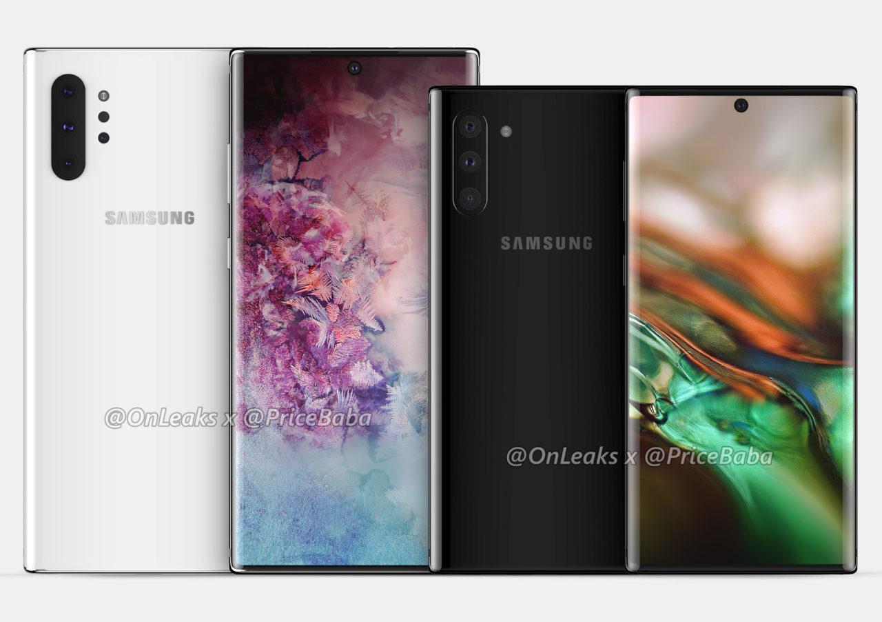 Samsung Galaxy Note 10 Pro vs Galaxy Note 10 CAD renders