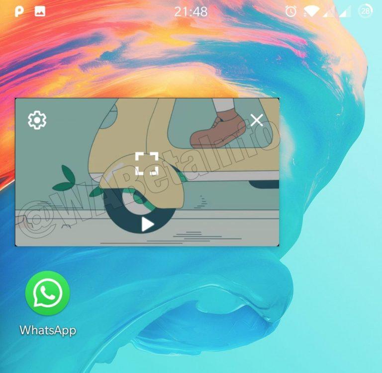 WhatsApp PiP feature