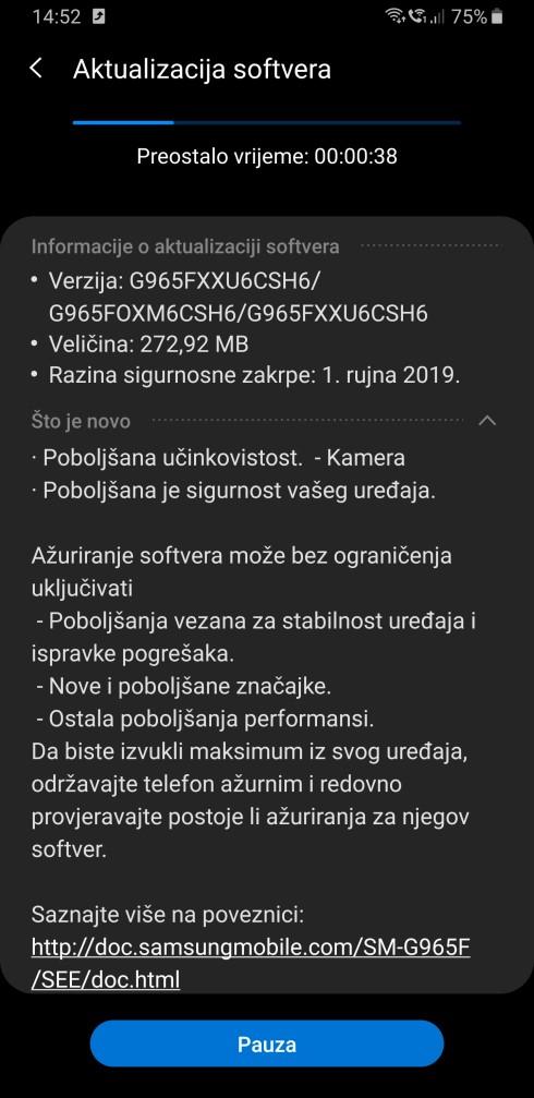S9 Plus September update