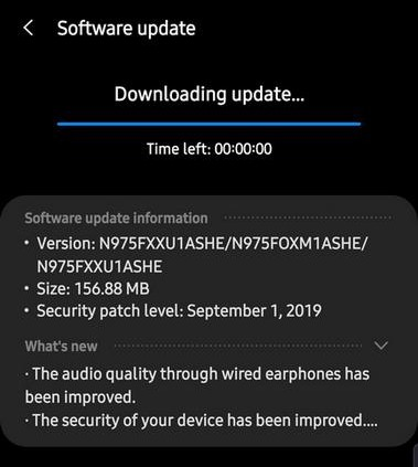 September update Note 10 and Note 10+