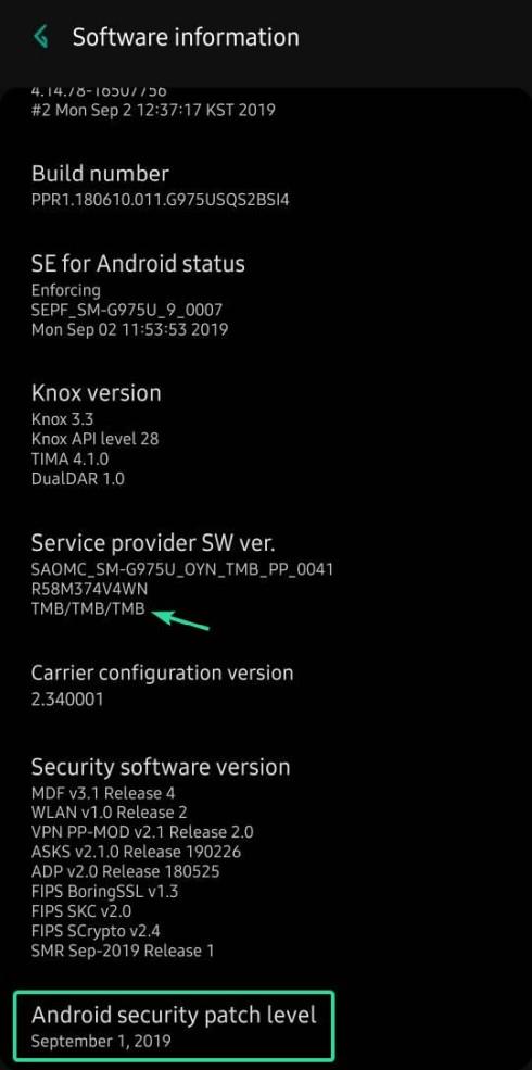 T-Mobile S10 September update