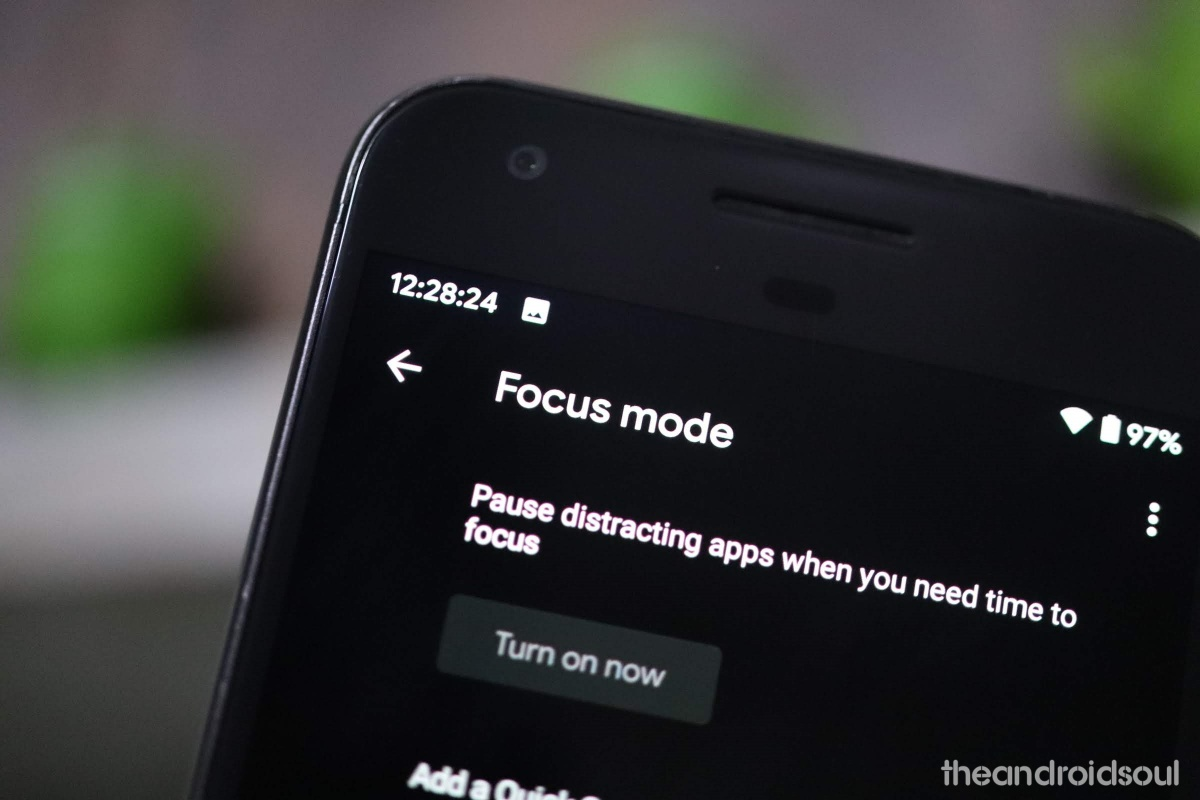 Android 10 Focus mode