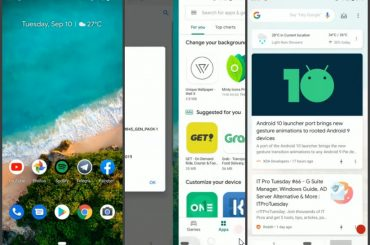 Android 10 gesture navigation on Android 9 Pie