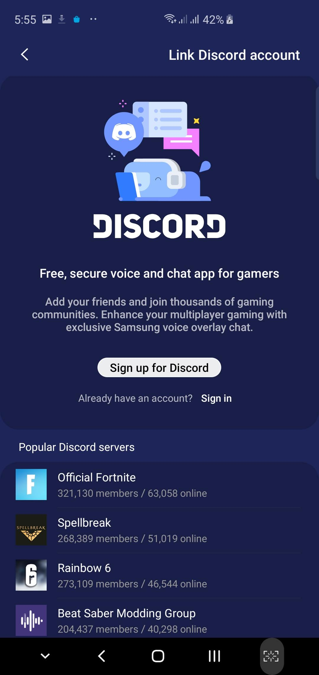 Game Launcher update Discord app