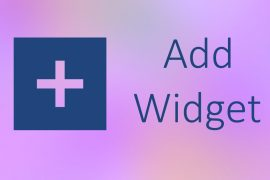 Add widget on Android