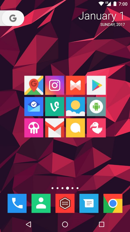 Square icon pack 16