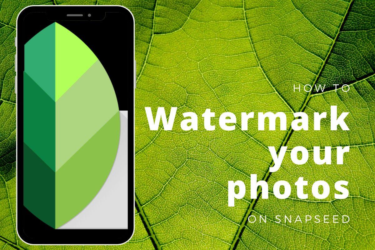 Watermark image using Snapseed