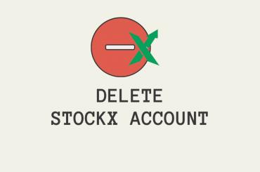 delete stockx account