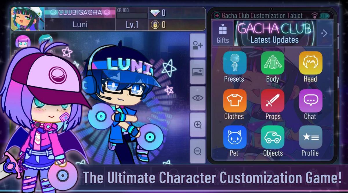 Gacha Club character cutomization