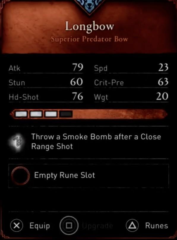 AC Valhalla Build - Longbow Stats