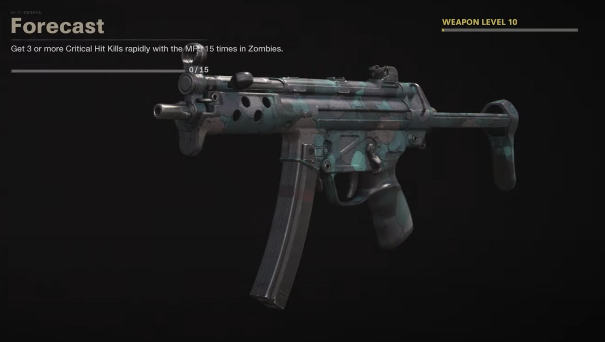 Black Ops Cold War Zombies Camo Challenges - Forecast