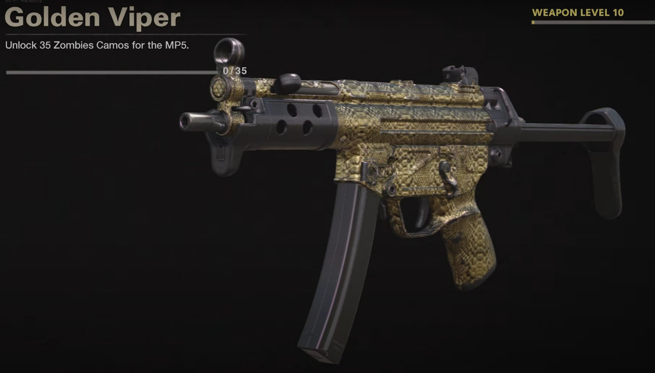 Black Ops Cold War Zombies Camo Challenges - Gold Viper Mastery Camo