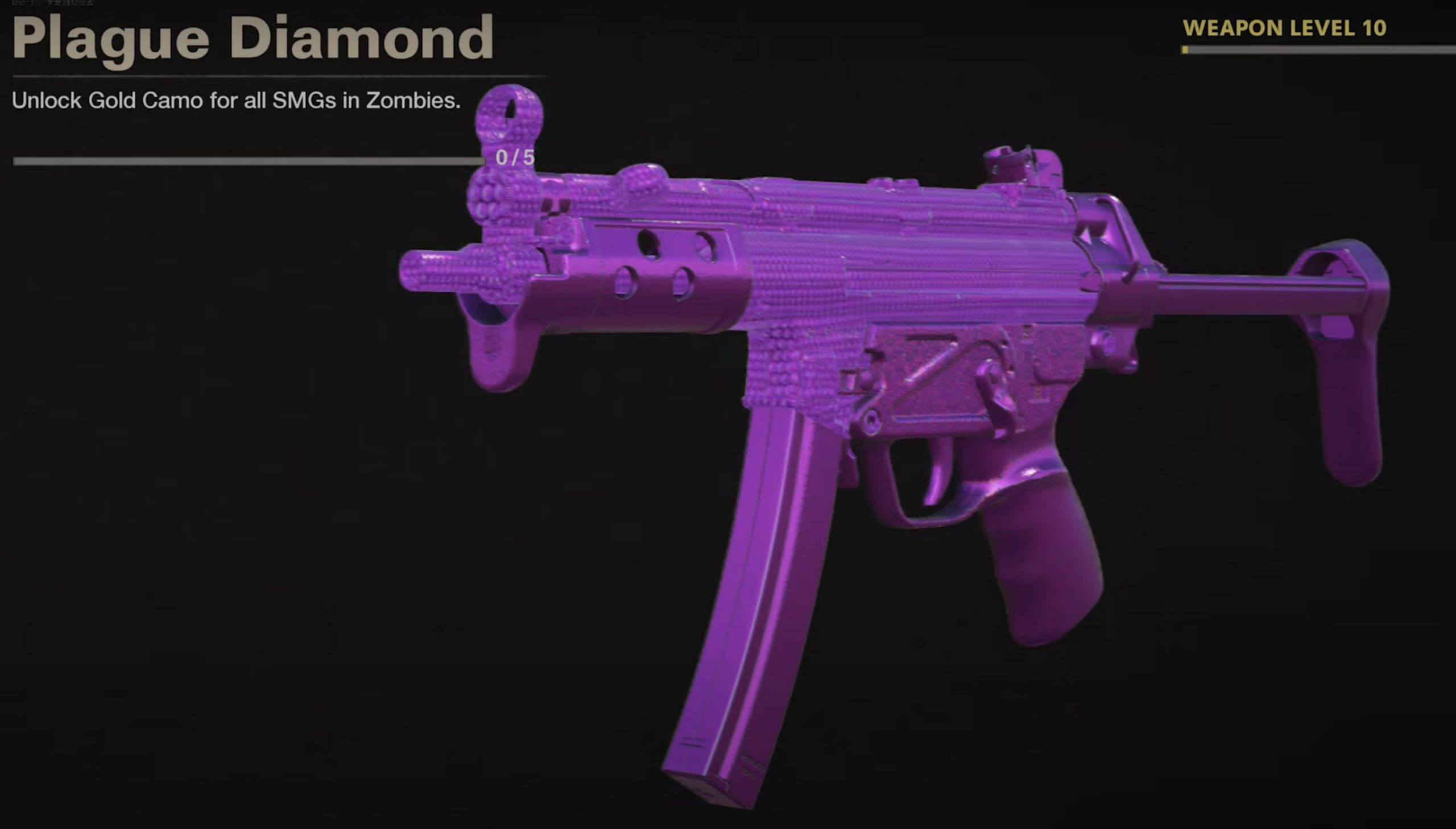 Black Ops Cold War Zombies Camo Challenges - Plague Diamond Mastery Camo