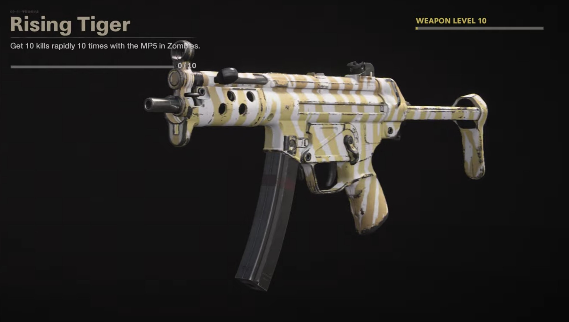 Black Ops Cold War Zombies Camo Challenges - Rising Tiger