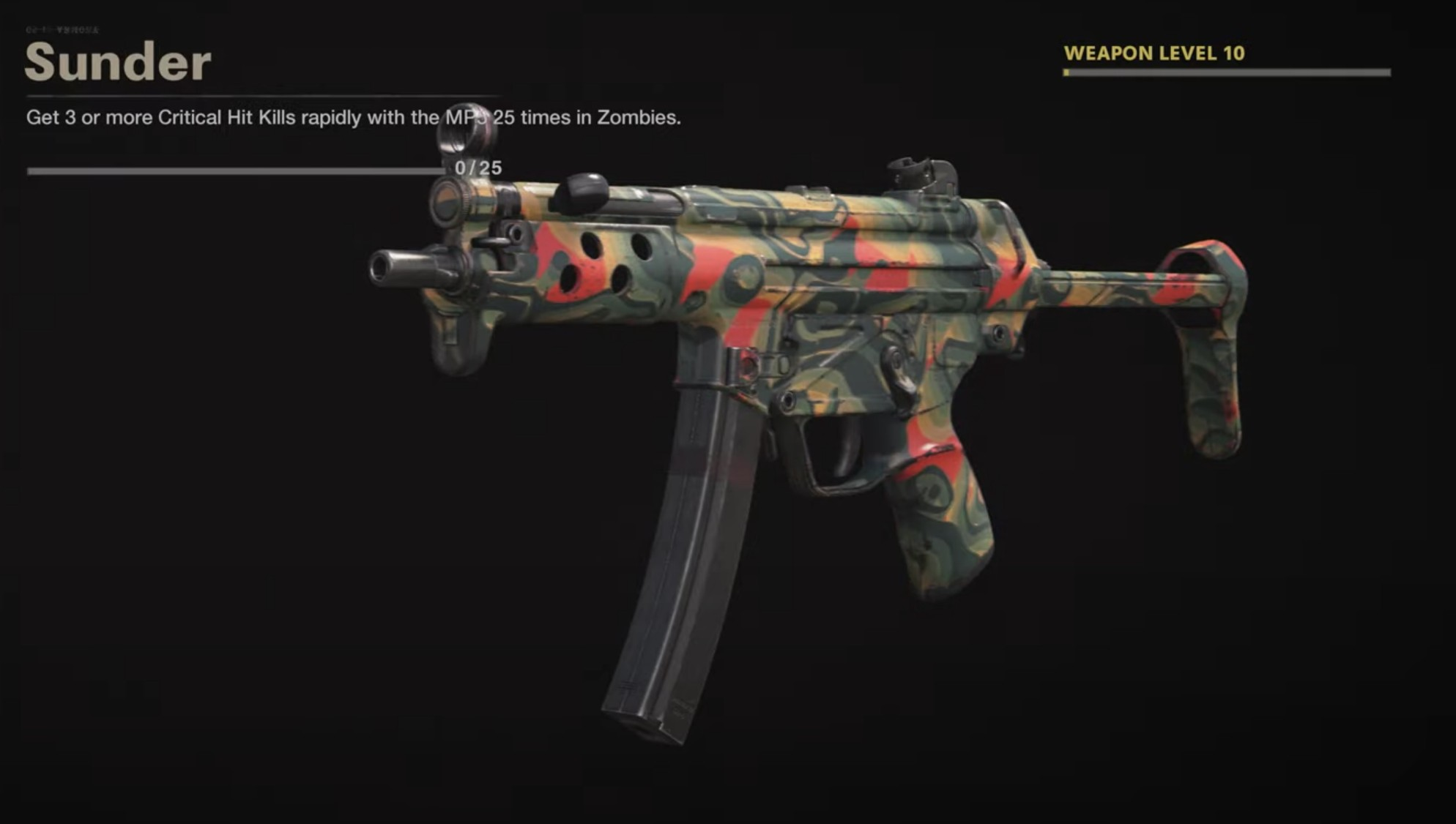 Black Ops Cold War Zombies Camo Challenges - Sunder